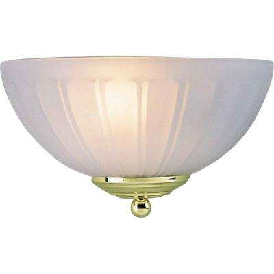 1-Light Polished Brass Wall Sconce