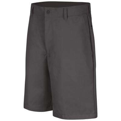 Men's Size 30 in. x 10 in. Charcoal Plain Front Short