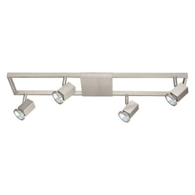 Zeraco 27.56 in. 4-Light Satin Nickel Track Lighting Kit with Adjustable Track Heads