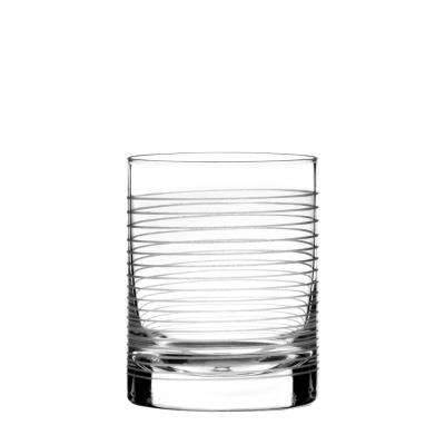 Linear 12 oz. Double Old Fashioned Glass (4-Piece Set)