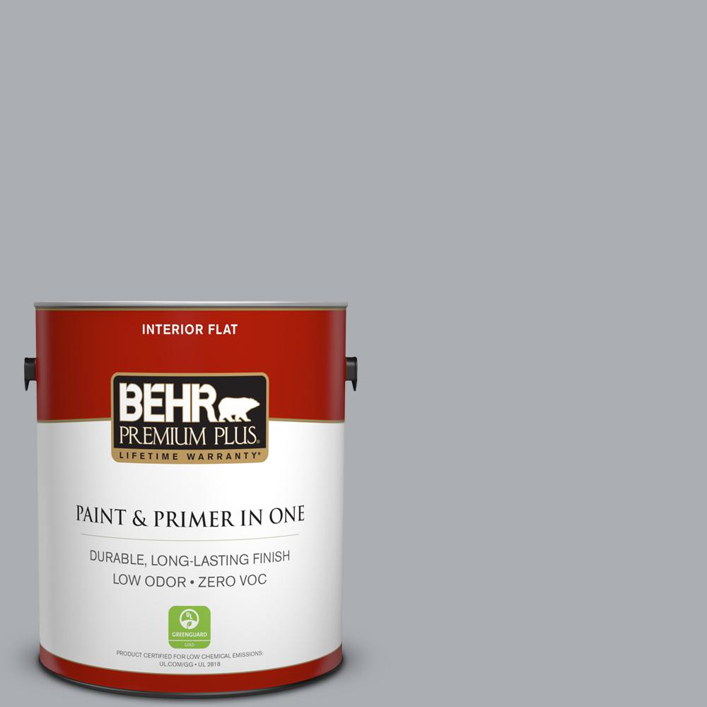 1 gal. #760E-3 Gray Timber Wolf Flat Zero VOC Interior Paint