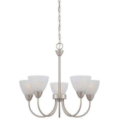 Tia 5-Light Matte Nickel Chandelier