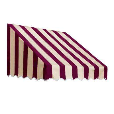 5.38 ft. Wide San Francisco Window/Entry Awning (24 in. H x 48 in. D) Burgundy
