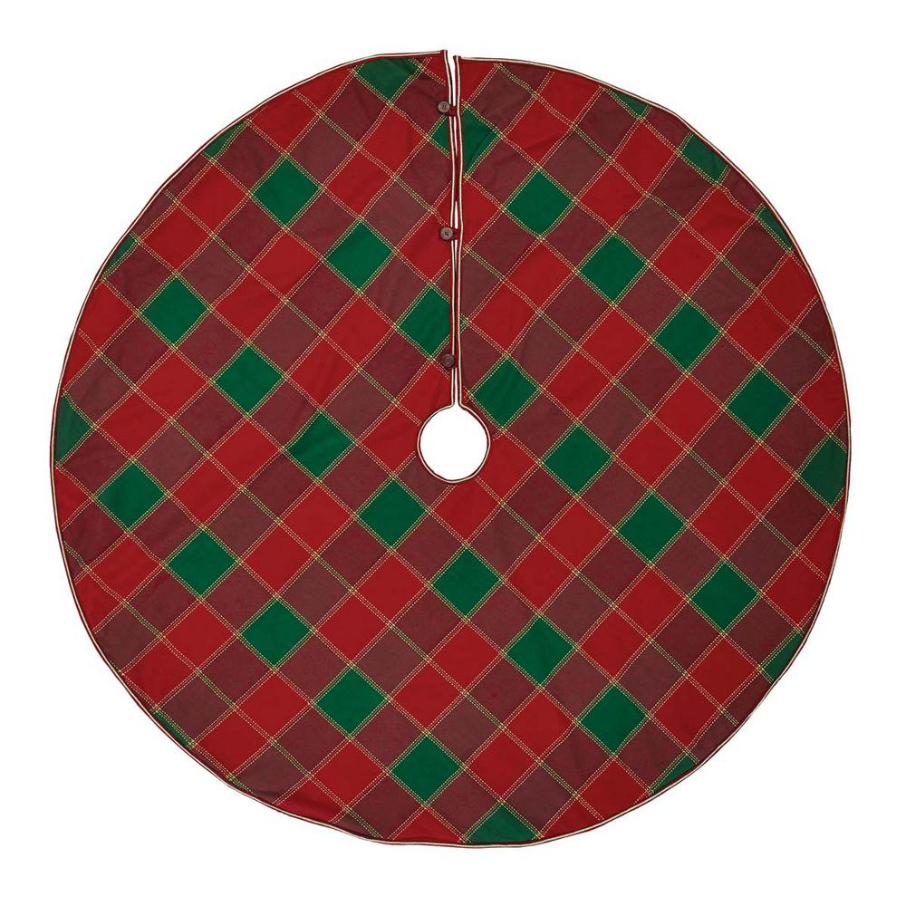 Vhc Brands 60 In Tristan Cherry Red Traditional Christmas Decor Tree Skirt