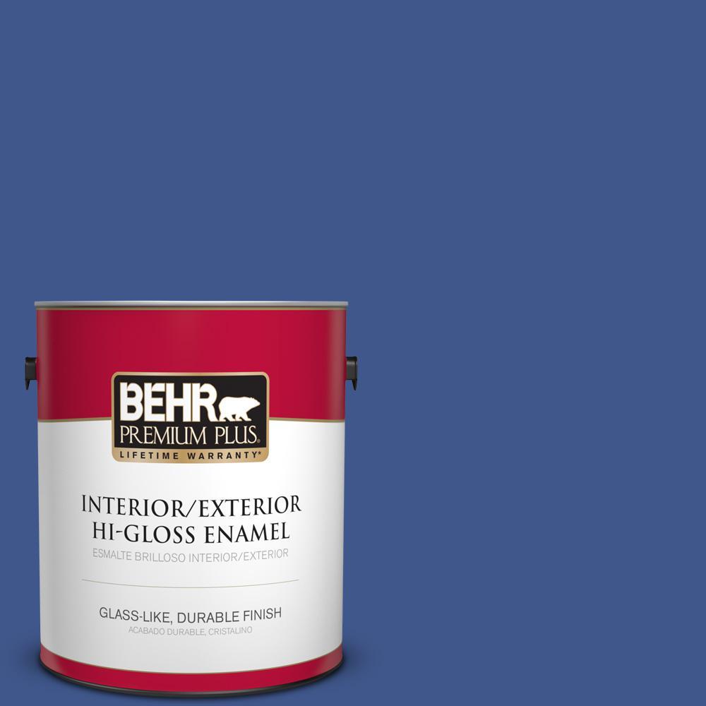 1 gal. #PPU15-03 Dark Cobalt Blue Hi-Gloss Enamel Interior/Exterior Paint