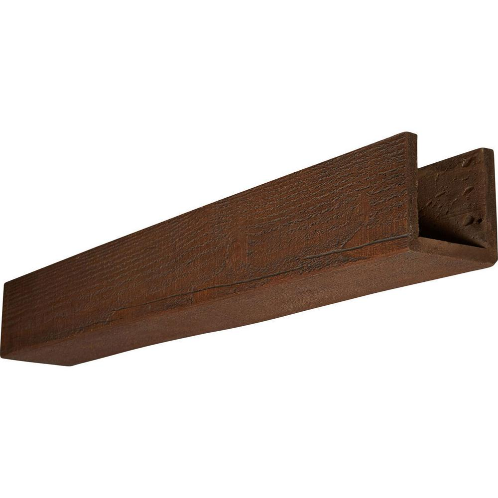 Ekena Millwork 10 in. x 6 in. x 24 ft. 3-Sided (U-Beam) Rough Sawn ...