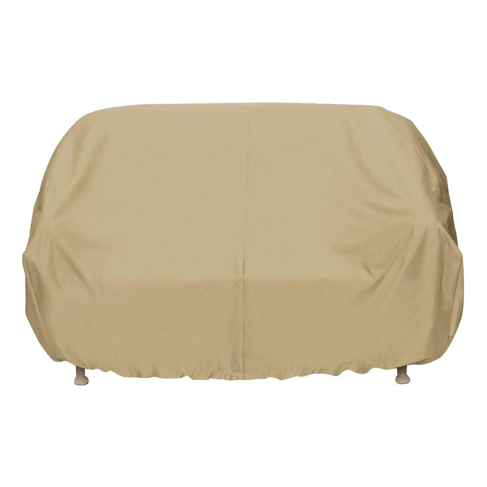 Two dogs designs 102 in khaki oversized patio sofa cover for Two dogs furniture covers