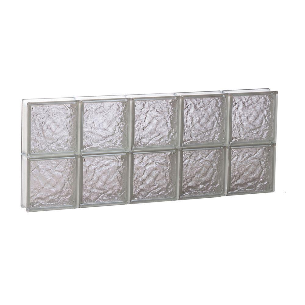 28.75 in. x 11.5 in. x 3.125 in. Frameless Ice Pattern