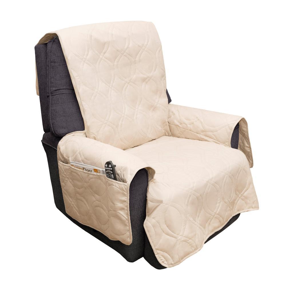 Non-Slip Tan Waterproof Chair Slipcover