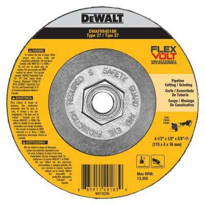 FLEXVOLT 4-1/2 in. x 1/8 in. x 5/8 in.-11 Cutting and Grinding Wheel Type 27