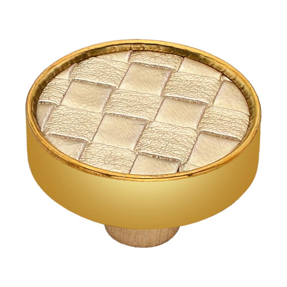 Golden 1-3/5 in. Checkered Cabinet Knob