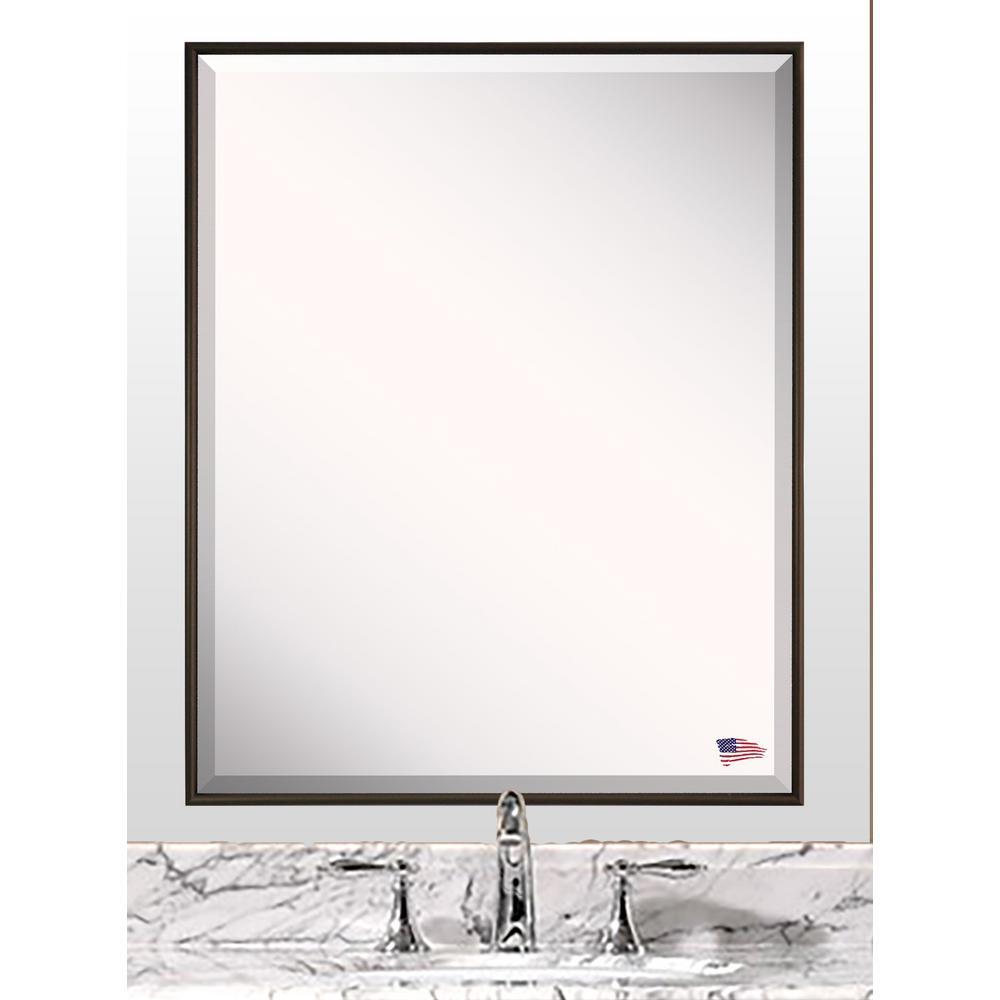 30.125 in. x 36.125 in. Bravo Bronze Beveled Vanity Wall Mirror