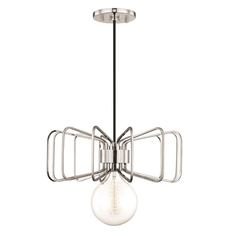 Mitzi By Hudson Valley Lighting Daisy 1 Light Polished Nickel Pendant