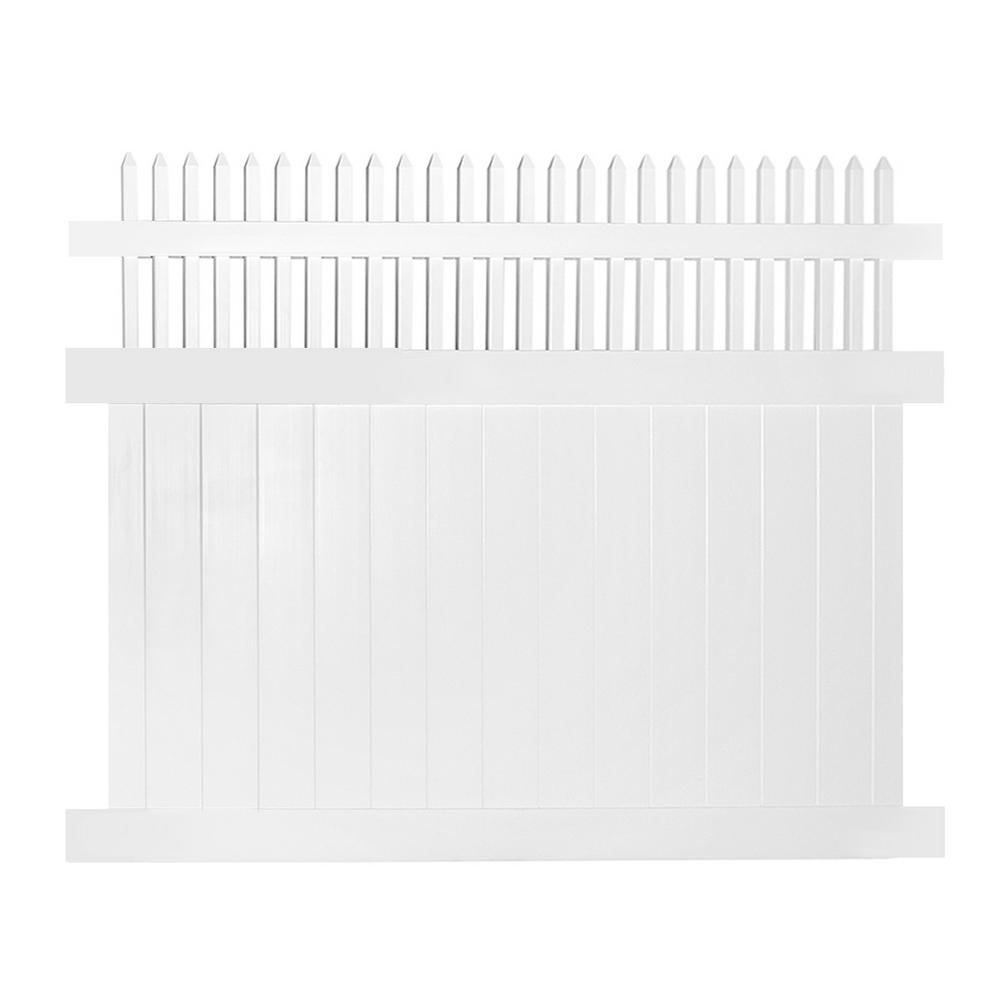 Weatherables Tremont 5 Ft H X 8 Ft W White Vinyl Privacy