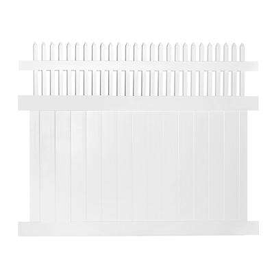 Tremont 5 ft. H x 8 ft. W White Vinyl Privacy Fence Panel Kit