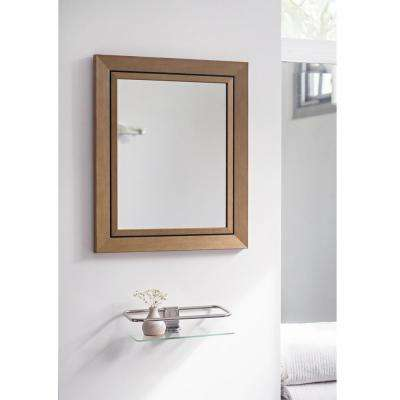 17.5 in. x 14.5 in. Yellow Stone Wash Mirror