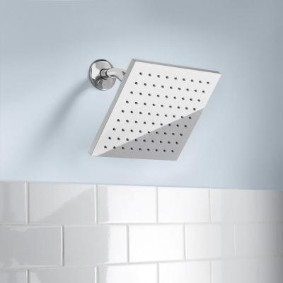 Modern 1-Spray 8 in. Single Wall Mount Fixed Rain Shower Head in Chrome