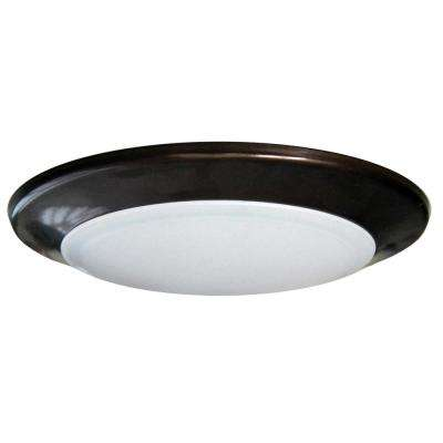 Round Disk Light Length 6 in. Bronze Recessed Integrated LED Trim Kit Round Fixture 3000K Warm White New Construction