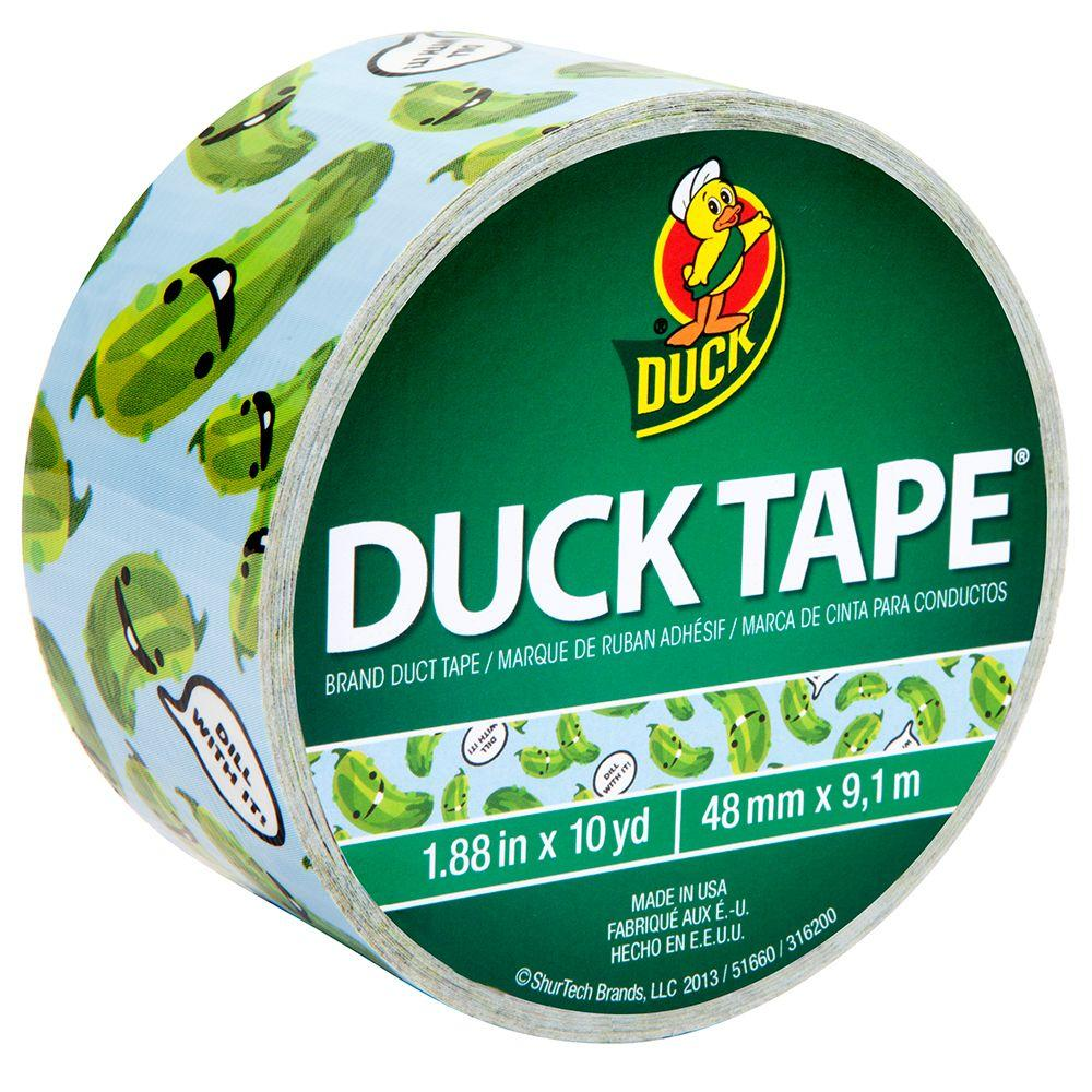 Duck 1.88 in. x 10 yds. Dill With It Duct Tape