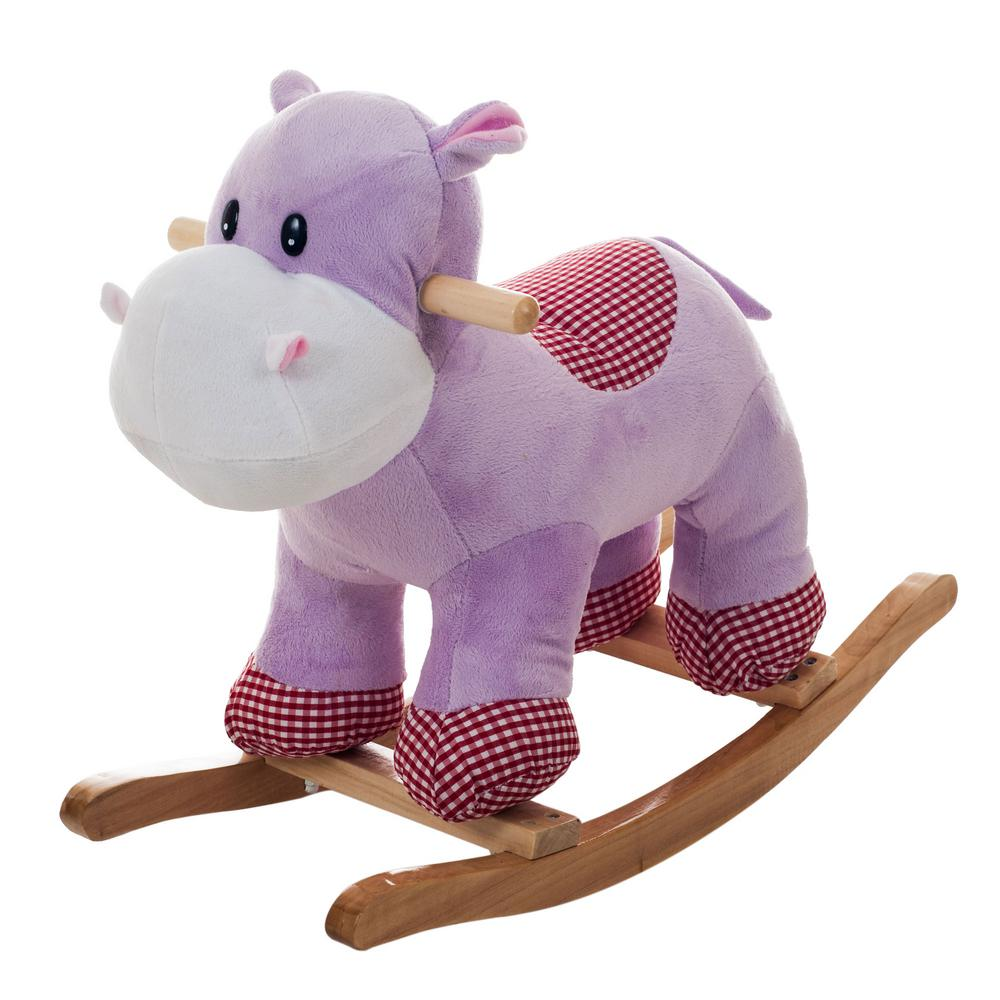 Plush Purple Henrietta the Rocking Hippo