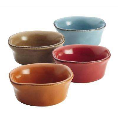 Cucina Stoneware 4-Piece Dipping Cup Set in Assorted