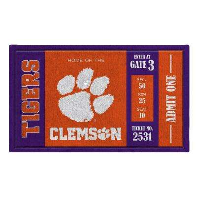 Clemson University 30 in. x 18 in. Vinyl Indoor/Outdoor Turf Floor Mat