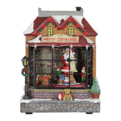 9 in. Christmas Yard Decor Moving Train