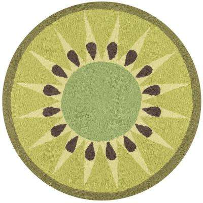 Cucina Kiwi 3 ft. x 3 ft. Round Kitchen Mat