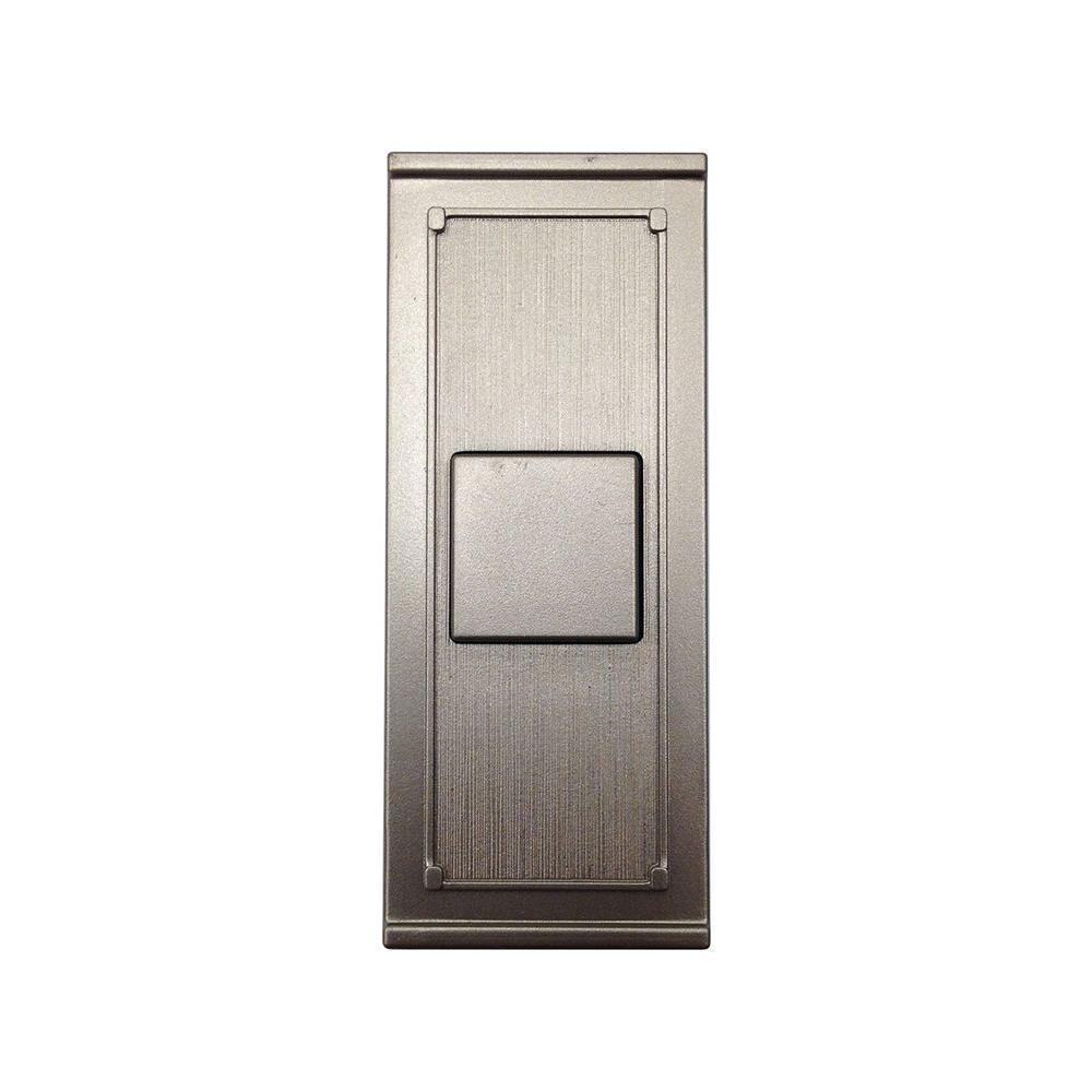 Hampton Bay Wireless Door Bell Push Button Brushed Nickel