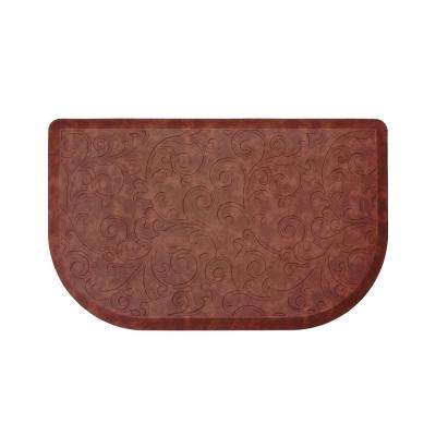 Clarance Red 32 in. x 20 in. Embossed Wedge Gelness Mat
