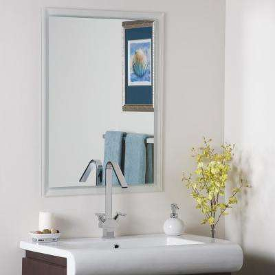 31.5 in. x 23.6 in. Rectangle Frameless Etched Border Mirror with Beveled Edge