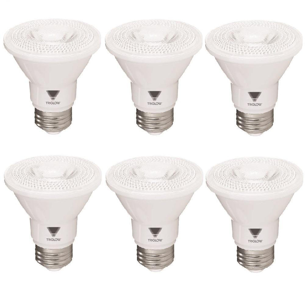 TriGlow 50-Watt Equivalent PAR20 Dimmable LED Light Bulb Daylight (6-Pack)