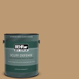 Behr Ultra 1 Gal N280 5 Antique Treasure Extra Durable Semi Gloss Enamel Interior Paint And Primer In One 375301 The Home Depot