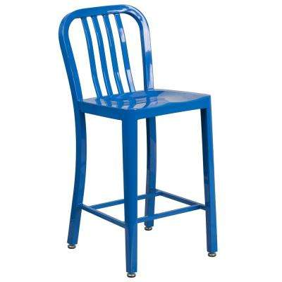 24.5 in. Blue Bar Stool
