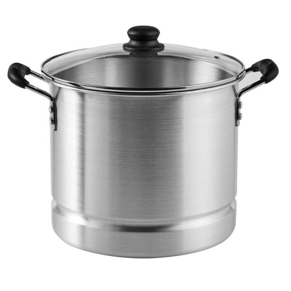 Mexicana 32 qt. Aluminum Stovetop Steamer with Glass Lid