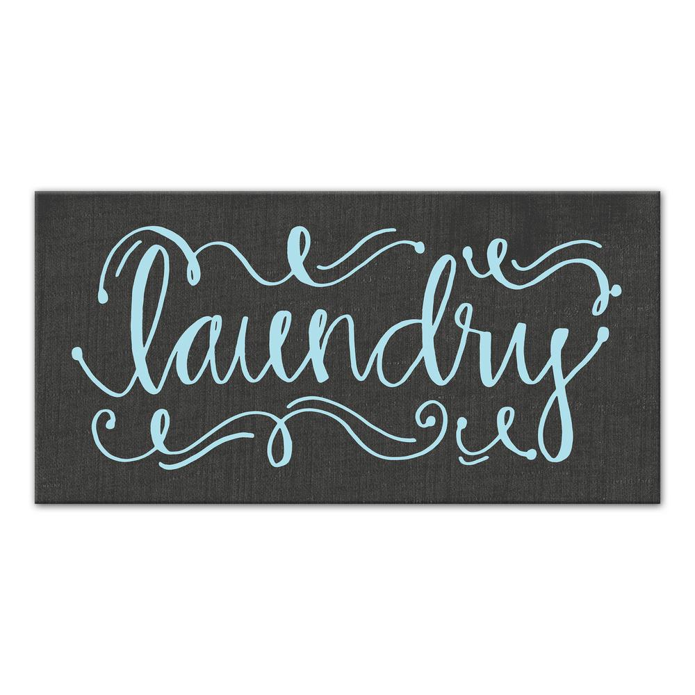 Calligraphy Style Laundry Printed Canvas Wall Art 4115 Bp The Home Depot