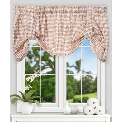 Davins 22 in. L Cotton Tie-up Valance in Clay