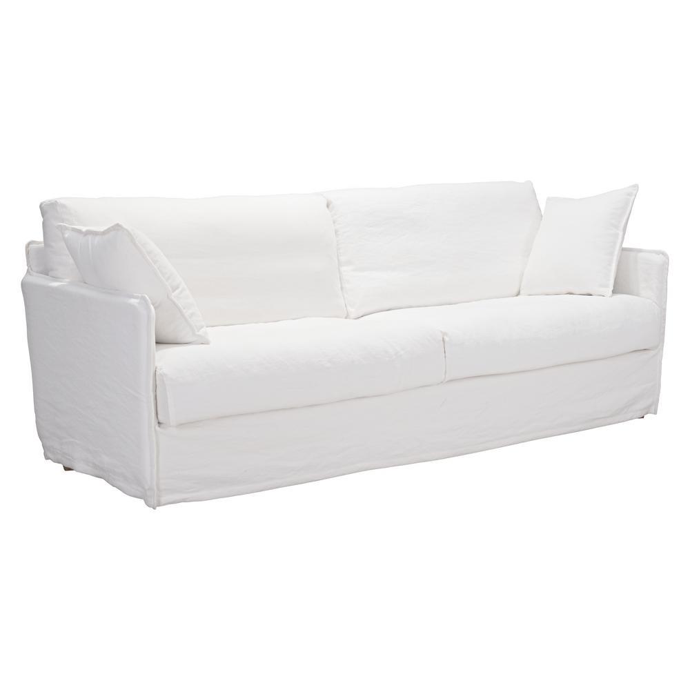 Charmant ZUO Cameron Ivory Sofa