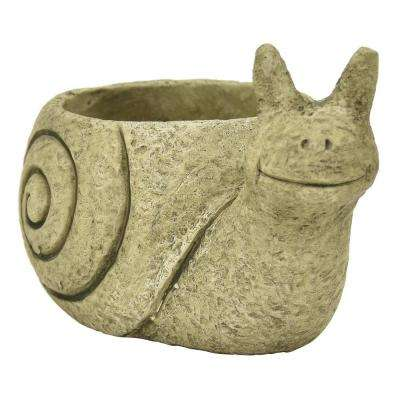 4.75 in. Green Snail Flower Pot