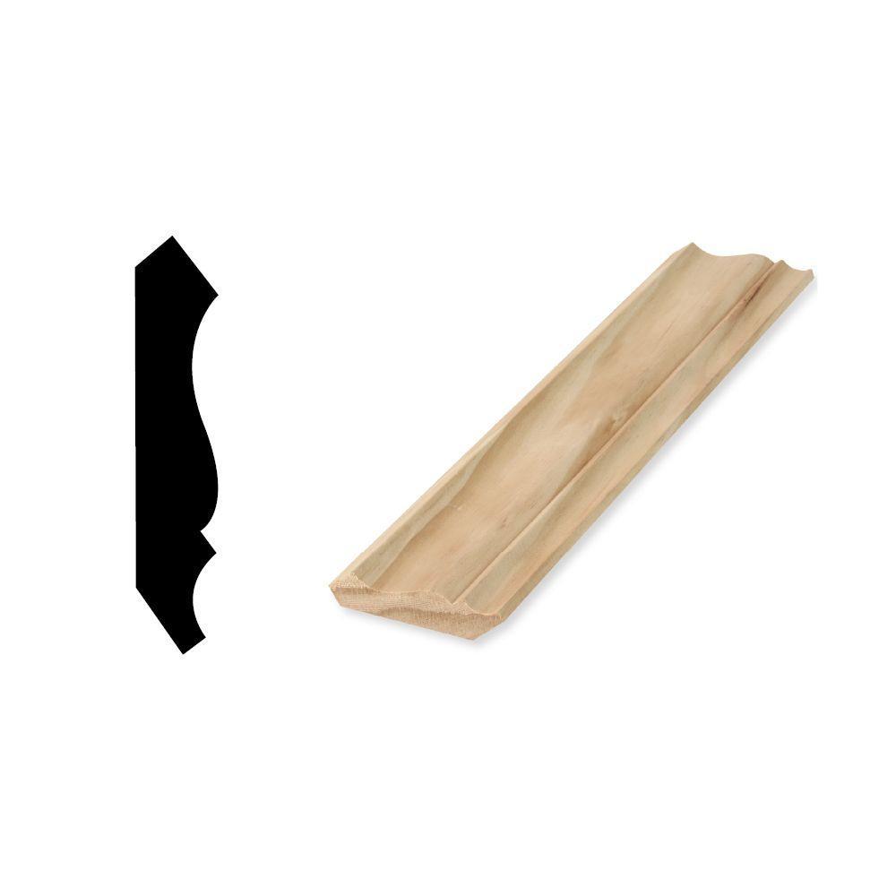 Woodgrain Millwork WM 52 9/16 in. x 2-3/4 in. x 96 in. Solid Pine Crown Moulding