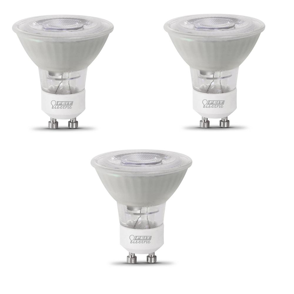 50-Watt Equivalent MR16 GU10 Dimmable CEC Title 20 Compliant LED 90+ CRI Frosted Flood Light Bulb, Bright White (3-Pack)