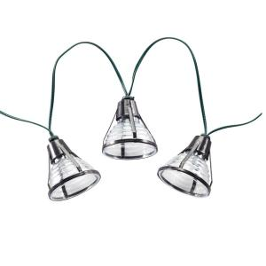 Bente Lantern Solar Integrated LED String Light Set with Stake (20-Piece)