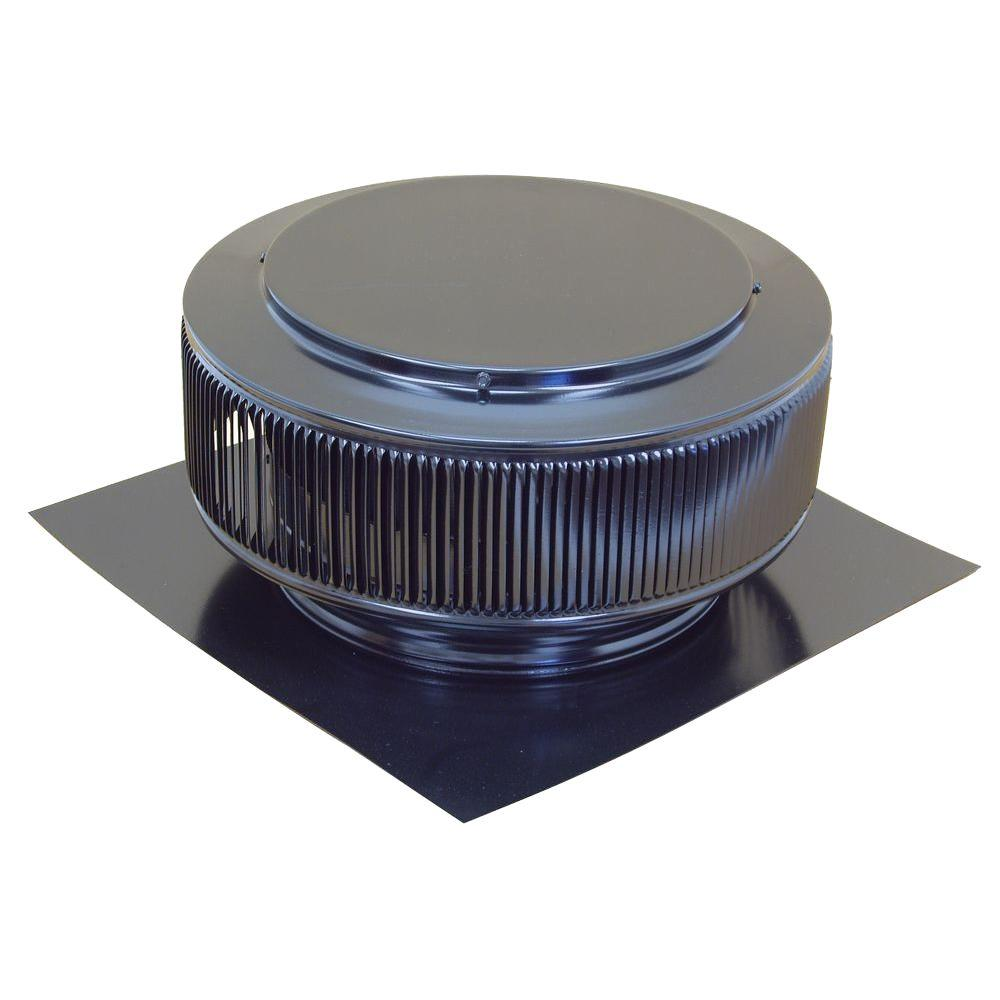 12 in. Black Powder Coated Aluminum Roof Vent No Moving Parts