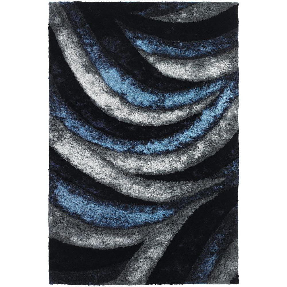 Chandra Flemish Navy Blue Grey 7 Ft 9 In X 10 Ft 6 In