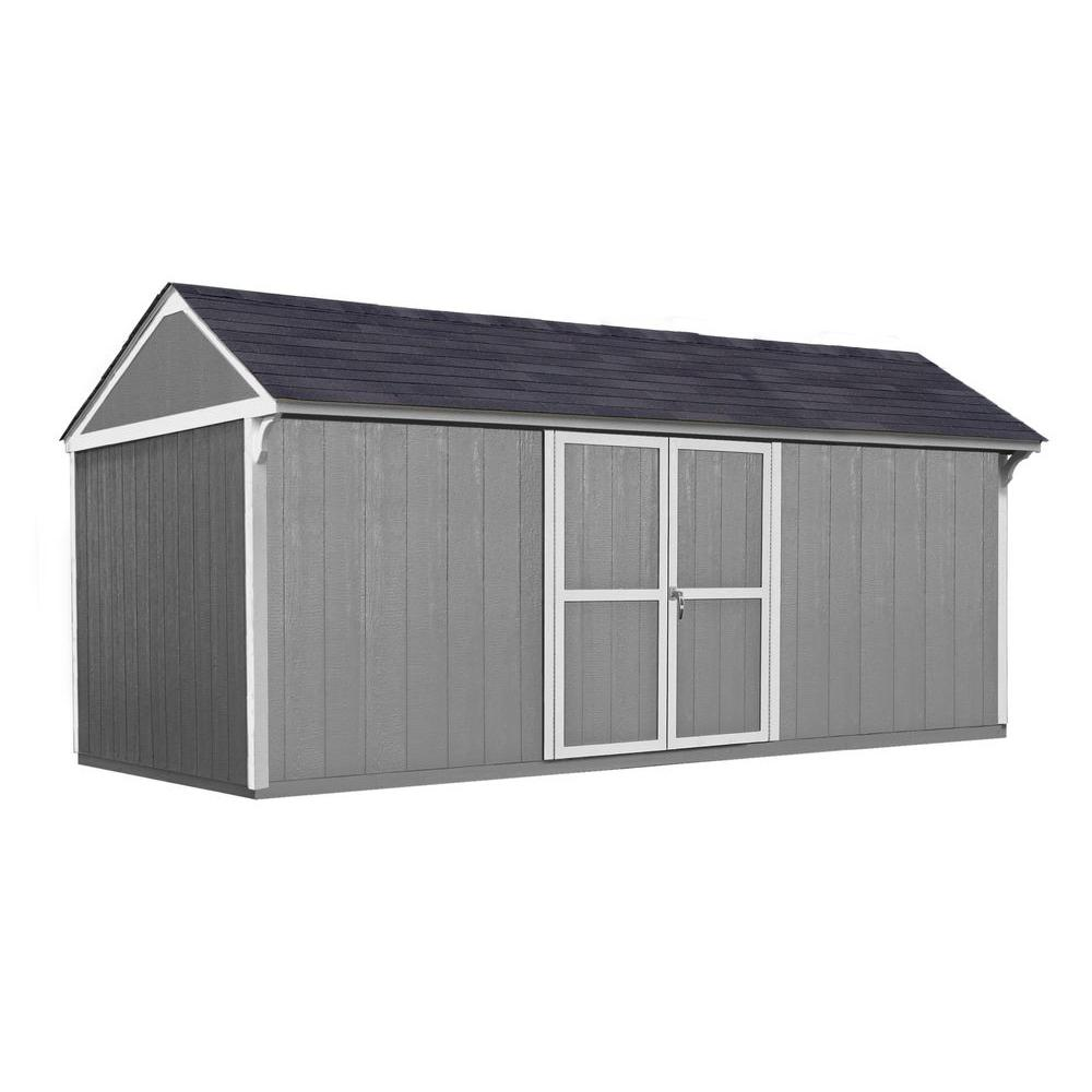 Handy Home Products Lexington 16 ft. x 10 ft. Wood Storage Shed with Floor