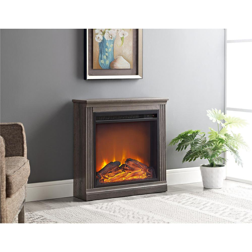 espresso electric fireplaces fireplaces the home depot