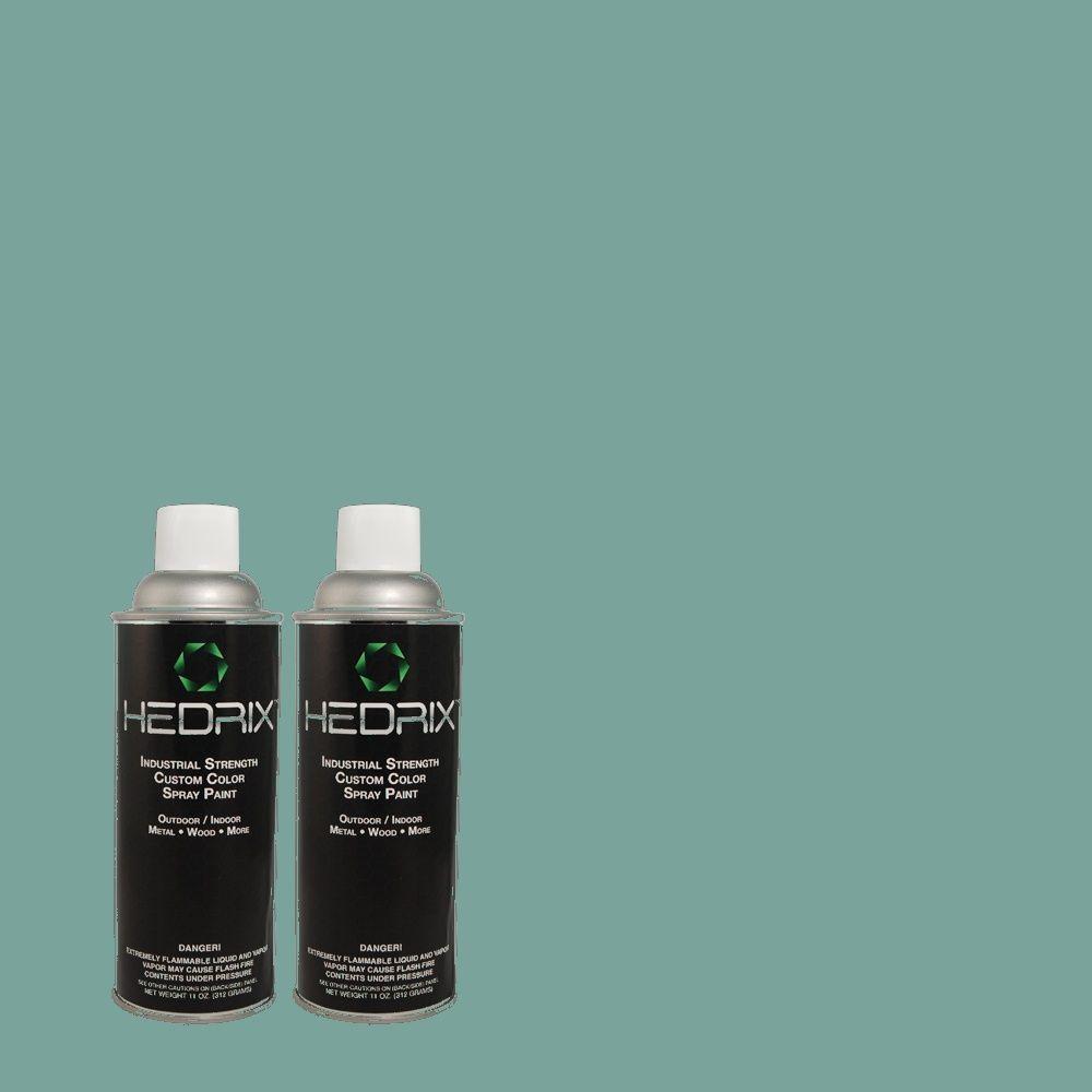 Hedrix 11 oz. Match of PPU13-5 Bali Bliss Semi-Gloss Custom Spray Paint (8-Pack)