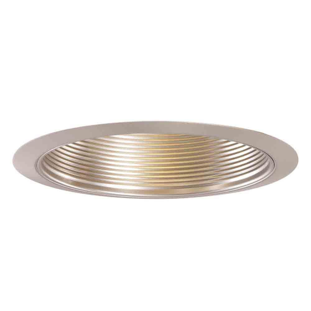 Halo 6 in satin nickel recessed ceiling light metal baffle trim halo 6 in satin nickel recessed ceiling light metal baffle trim 353sn the home depot mozeypictures