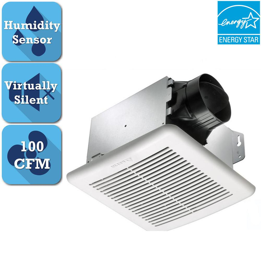 GreenBuilder Series 100 CFM Ceiling Bathroom Exhaust Fan with Adjustable