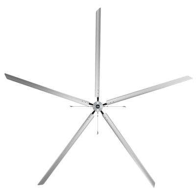 Titan 24 ft. 220-Volt Indoor/Outdoor Anodized Aluminum Single Phase Industrial Ceiling Fan